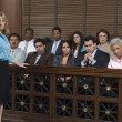 Prosecutor With Jury In Court — Stock Photo #21972169
