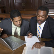 Lawyer With BusinessmIn Court — Stockfoto #21972363