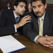 Advocate Discussing With Client — Stock Photo