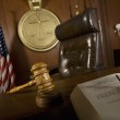 Judge's Chair In Courtroom — Stock Photo