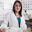 Stock Photo: Female Student In Science Class