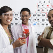 Teacher With Students In Science Laboratory — Stock Photo