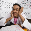 Student Sitting In Science Laboratory — Stock Photo