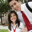 High School Couple Studying — Foto Stock