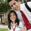 High School Couple Studying — Stock Photo