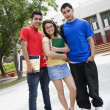 Teenage Friends Standing In Front Of School — Foto Stock