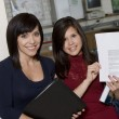 High School Students Holding Document — Foto Stock