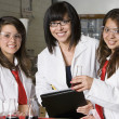 High School Students With Professor In Chemistry Lab — Stock Photo #21973361