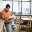 Student Studying in Library — Stock Photo #21973397