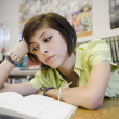 Bored High School Student In Library — Stock Photo