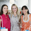 Female Friends In Clothing Store — Stock Photo