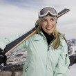 Cheerful Skier - Stock Photo
