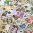 Stock Photo: American, British And Euro Currency