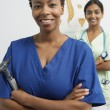 Multiethnic Female Doctors - Stok fotoğraf