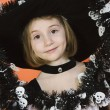 Cute Girl In Halloween Outfit — Foto Stock