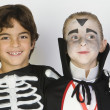 Boys Dressed In Halloween Costumes — Stock Photo