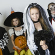Group Of Kid In Halloween Costumes — 图库照片