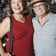 Happy Senior Couple At Souvenir Shop — Stock Photo