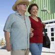 Senior Couple Walking Together - Stock Photo
