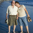 Senior Couple Standing On Beach — Stock Photo