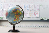 Globe In Elementary Classroom — Stock Photo