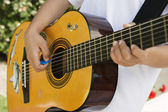 Little Boy Playing Guitar — Stock Photo