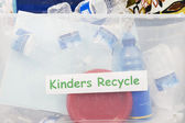 Recycling Container In Classroom — Stock Photo