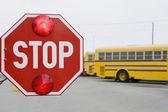 Closeup Of A Stop Sign — Stock Photo