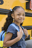 Cute Girl With Backpack — Stock Photo