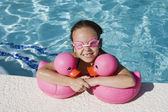 Girl At Poolside — Stock Photo