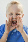 Young Boy Shouting — Stock Photo