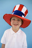 Patriotic Boy — Stock Photo