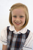 Cute Schoolgirl Smiling — Stock Photo