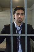 Businessman In Jail — Stock Photo