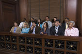 Jury Box In Courtroom — Stock Photo
