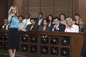 Prosecutor With Jury In Court — Stock Photo