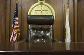 Judge's Chair In Court — Stock Photo
