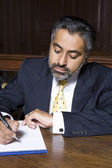Lawyer Writing Notes — Stock Photo