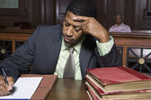 Lawyer Working In Courtroom — Stock Photo