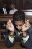 Handcuffed Criminal — Stock Photo