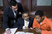 Criminal With Two Lawyers — Stock Photo