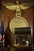 Gavel Near Judge's Chair — Stock Photo