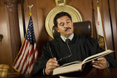 Judge Reading Law Book — Stock Photo