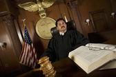 Judge Sitting On Chair — Stock Photo
