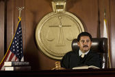 Judge Sitting In Courtroom — Stock Photo