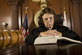Judge With Law Book — Stock Photo