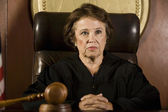 Thoughtful Female Judge — Stock Photo