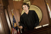 Female Judge Forming A Judgment — Stock Photo