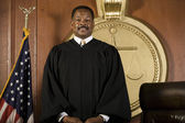 Judge Standing In Courtroom — Stock Photo