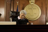 Female Judge Sleeping In Court — Stock Photo